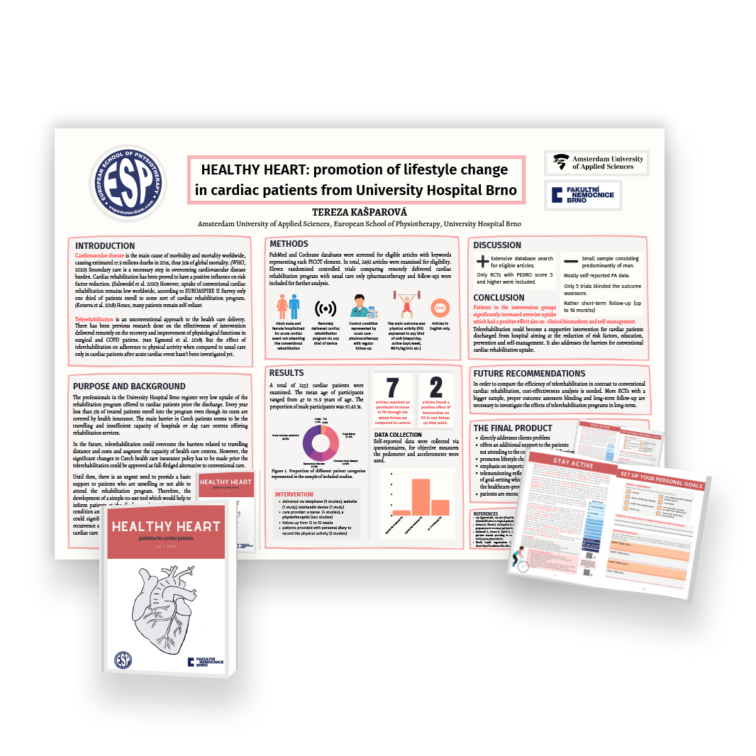 European School of physiotherapy augmented reality posters